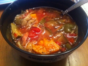 gluten free chicken soup with vegetables